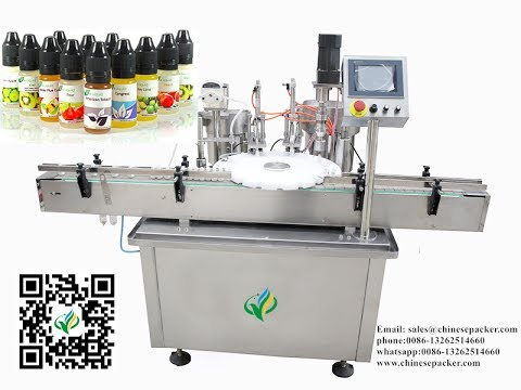 Automatic 10ml e juice filling production line vial rotary filler stopper capping 3 in 1 machine