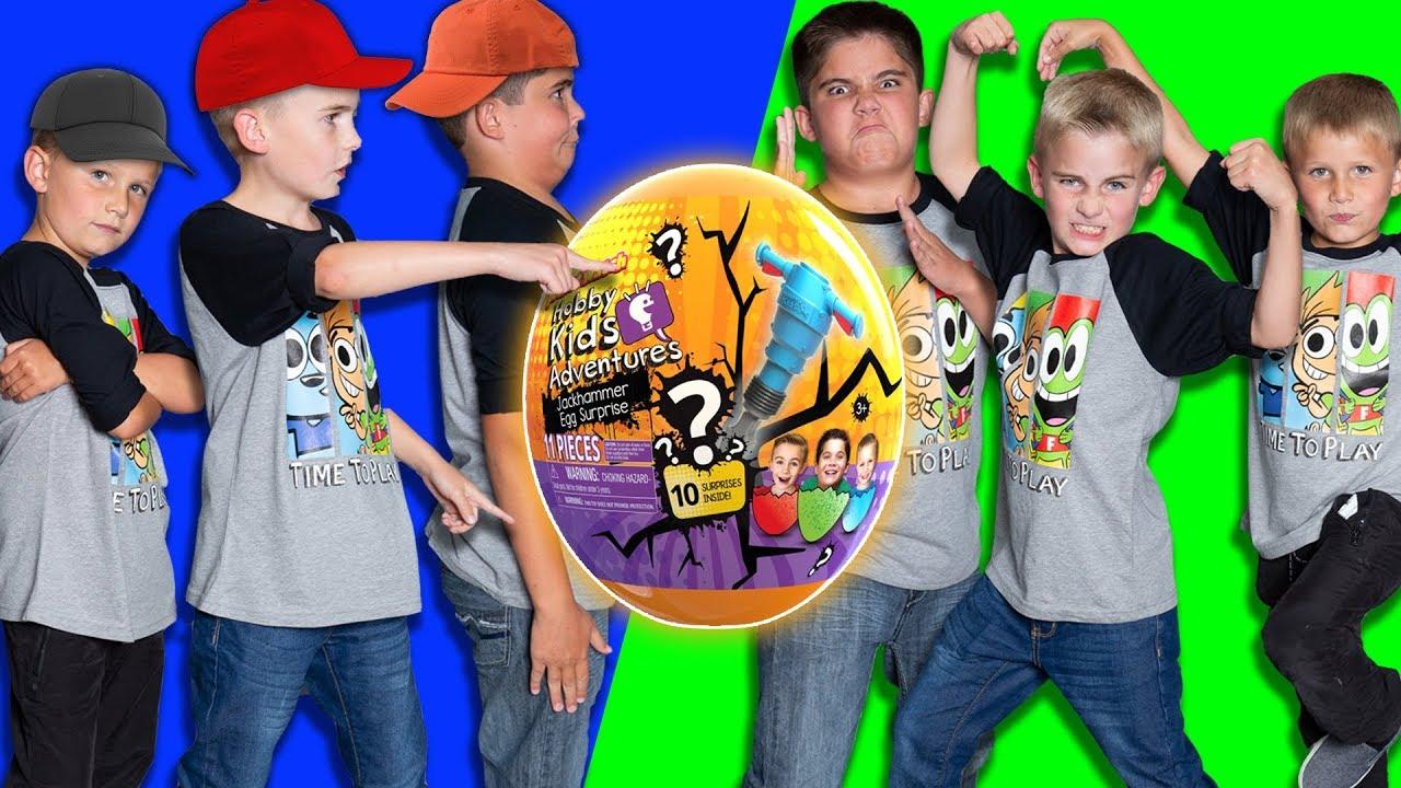 HobbyKids vs HobbyKids Evil Twins! Challenge Games Race to the Giant Egg