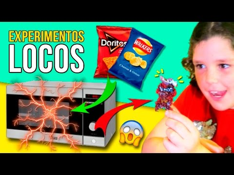 ¡¡Esto es lo que OCURRE si metes BOLSAS de patatas FRITAS en el MICROONDAS!!