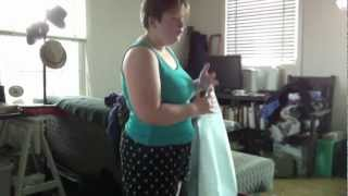 Binding technique for those with large breasts: