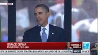 """""""Sa lutte était votre lutte, son triomphe a été votre triomphe"""" Barack Obama en hommage à Mandela"""