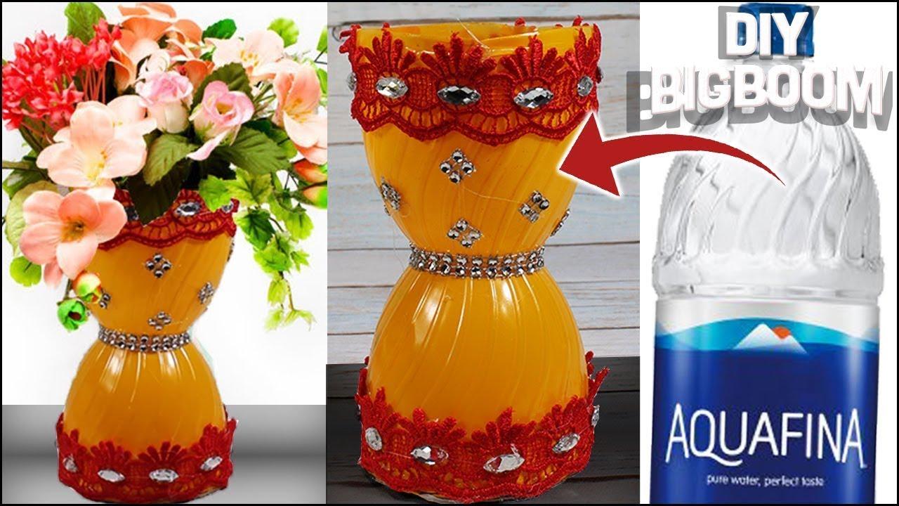 How to make flower vase with bottle(Aquafina)   Way simple & easy to Gl Vase Upcycle on kitchen vase, chandelier vase, flowers vase, bathroom vase, yarn vase, steampunk vase, mod podge vase, wood vase, wedding vase, tree vase, crochet vase, car vase, printable vase, ribbon vase, homemade vase, chalkboard vase, easter vase, wire vase,