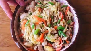 Моя любимая жареная картошка с овощами и мясом.