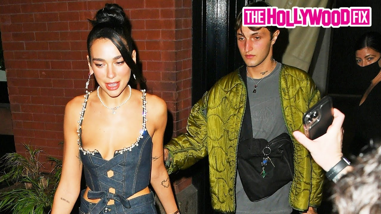 Dua Lipa & Anwar Hadid Are Swarmed By Fans While Leaving The Mercer Hotel Together In New York!