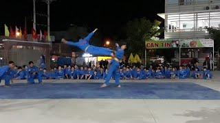 Một buổi tập luyện chuẩn bị cho đại hội võ thuật các môn phái võ thật.