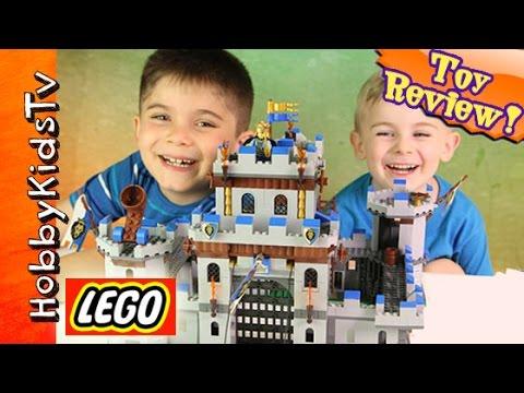 Lego Castle! King's Castle Build HobbyFrog Toy Review [704040] by HobbyKidsTV