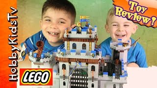 Lego Castle! King's Castle Build Hobbyfrog Toy Review [704040] By Hobbykidstv