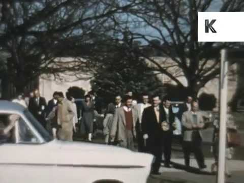 1950s, 1960s Canberra Australia, Government Administration Buildings, Archive Footage