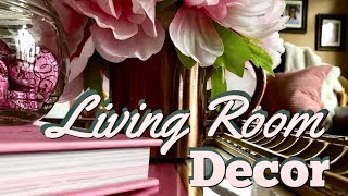 Blush Pink Living Room Decor | Valentines Day Spring Decor