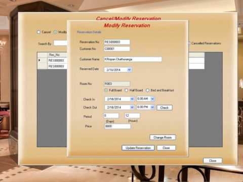 Hotel management and reservation system youtube for Design hotel reservation system