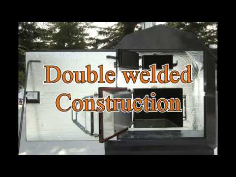 BL28-40 Outdoor wood furnace by Portage and Main - YouTube