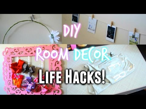 Diy room decor life hacks decora tu habitacion youtube for Room decor hacks