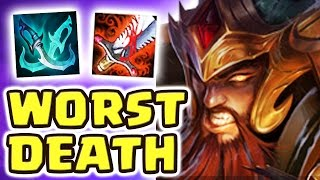 LITERALLY THE WORST WAY TO DIE !! NEW META BROKEN TRYNDAMERE JUNGLE - Nightblue3