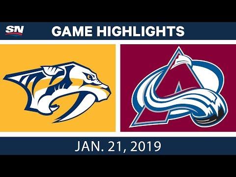 NHL Highlights | Predators vs. Avalanche - Jan. 21, 2019