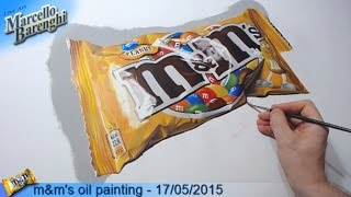 m&m's oil painting - 17/05/2015 LIVE Art - 8th (and last) day