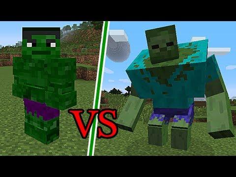 Minecraft Süper Kahraman MOD HULK VS MUTANT ZOMBİELAR
