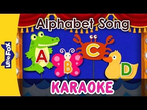 Alphabet Song | Sing-Alongs | Karaoke Version | Full HD | By Little Fox