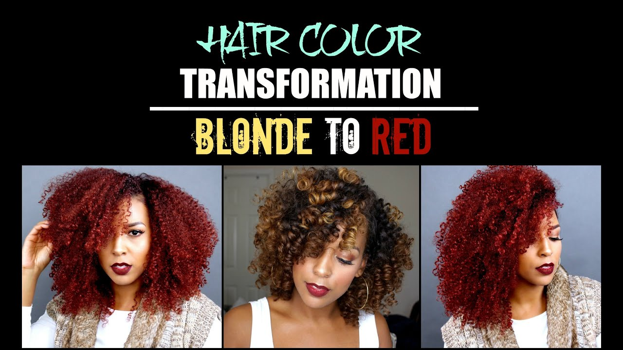 Blonde To Red Hair Color Transformation Youtube
