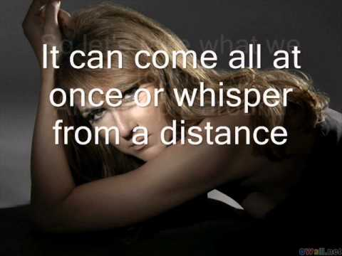 Celine Dion-Love doesn't ask why with lyrics