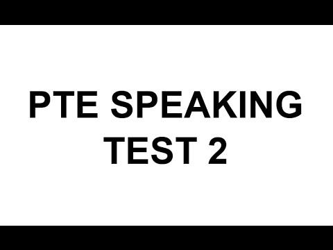 PTE Speaking test 2