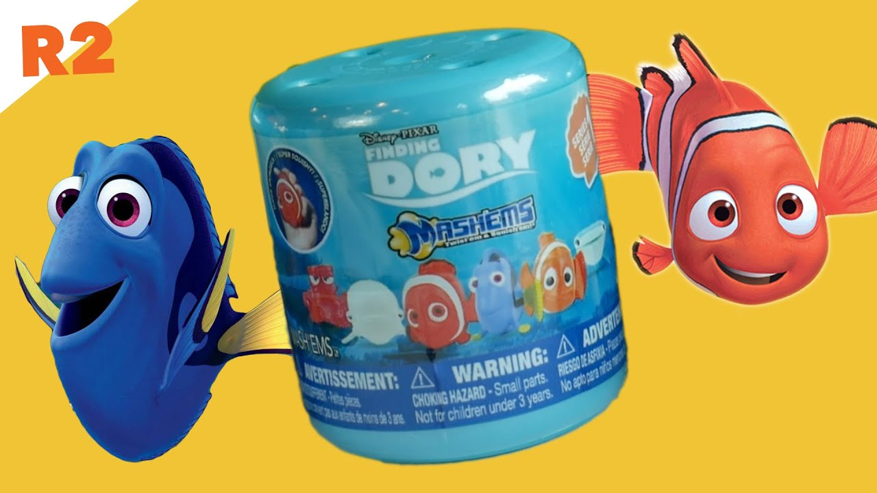 Finding Dory Mashems And Swimming Nemo Fish Toy Youtube