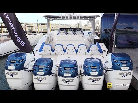 2019 Midnight Express 43 Open 2000hp Center Console Boat - Walkthrough - 2019 Miami Yacht Show