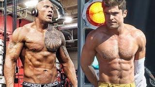 The Rock vs Zac Efron Body Transformation