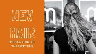 Download Video FIRST TIME DYED MY HAIR FOR THE FIRST TIME!!! NEW HAIR MP3 3GP MP4