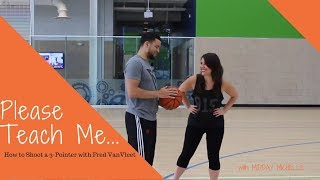 How to Shoot a 3-pointer with NBA Player, Fred VanVleet
