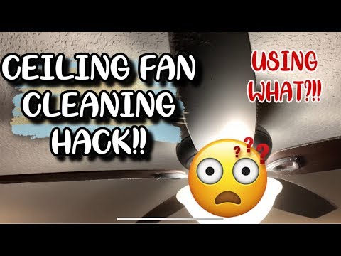 CLEANING CEILING FANS | CLEANING TIPS | SPEED CLEANING FAN