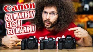 Canon 5D Mark IV vs  EOS R vs 6D Mark II | Which CAMERA to BUY?