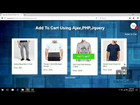 Ajax Shopping Cart with PHP and jQuery, Simple Add To Cart System, Online Shopping Cart