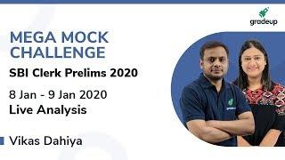 SBI Clerk Prelims 2020 All India Mock: Live Video Analysis