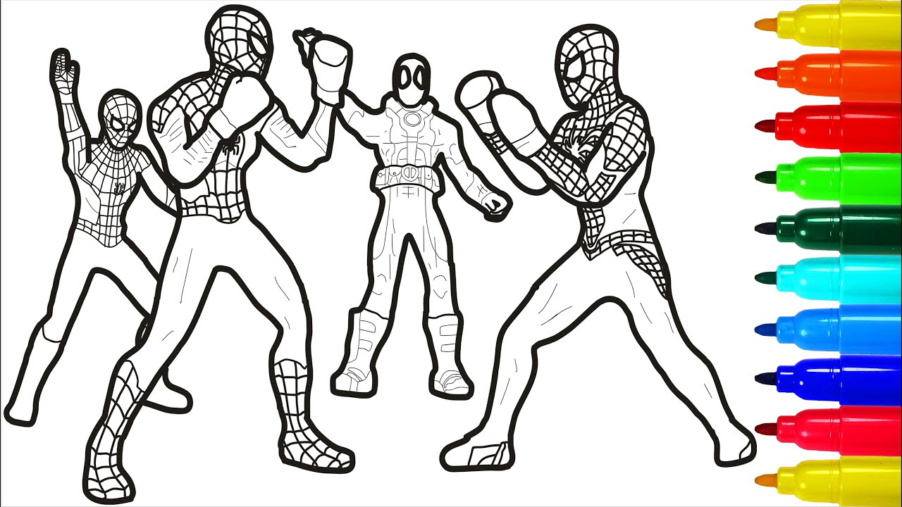 Spiderman Boxers Coloring Pages Youtube