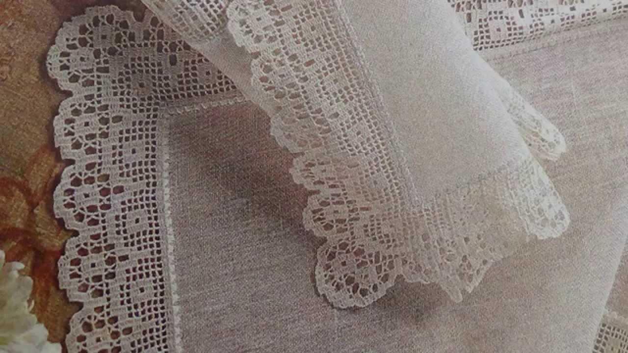 Como Tejer camino de mesa a crochet y lino - YouTube