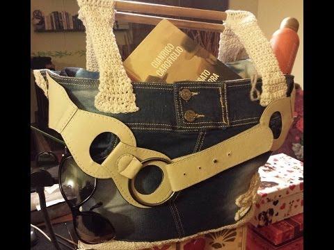 Borsa Da Mare Alluncinetto Jeans Crochet Tutorial Passo A