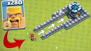"280 x Troops ATTACK the TH13!!! ""Clash Of Clans"" NEW UPDATE!!"