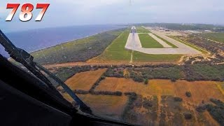 787 in Curaçao with huge Displaced Threshold!