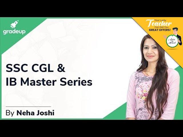 SSC CGL & IB Master Series || Neha Joshi Mam || Reasoning || Introduction