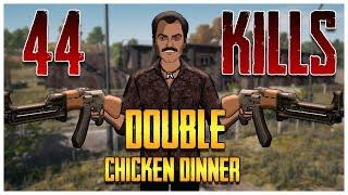 PUBG 44 Kills Double Chicken Dinner With Gaitonde | Jack Shukla Live