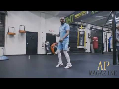 Floyd Mayweather rope skills jumps rope and tap dances at same time 😮😮