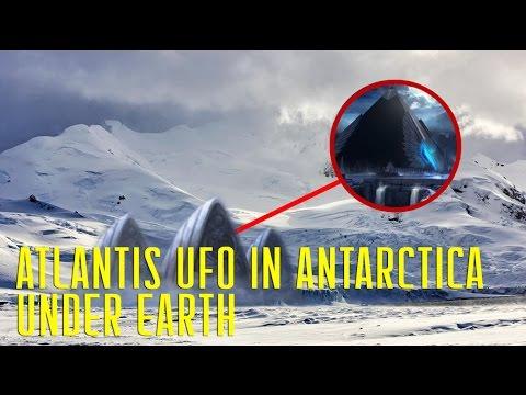 Atlantis UFO in Antarctica under the Ice Capes