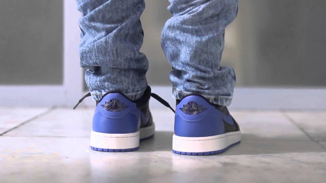 ec35c02ef53c89 Air Jordan 1 Low  Royal  Review   On Feet - YouTube