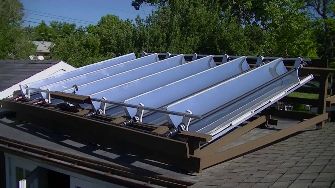 Solar Parabolic Reflector Collector Pool Water Heater Youtube