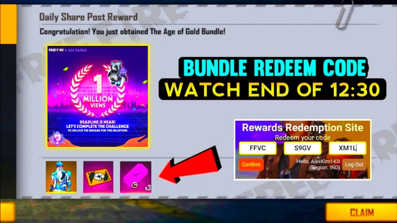 Free Fire Today Redeem Code 3August | FF Reedem Codes | Emotes Poker Mp40 Redeem Code Free Fire | ff
