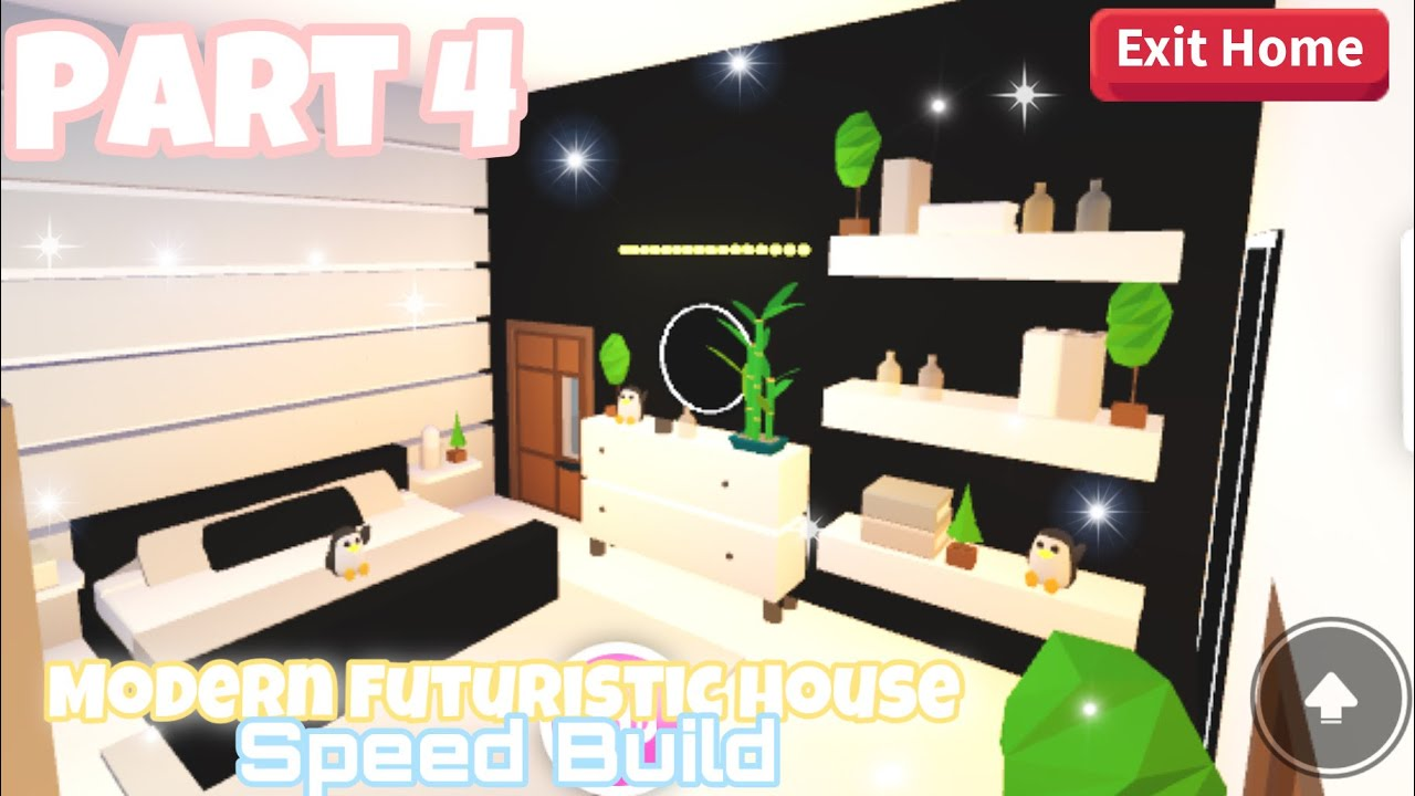 Modern Futuristic House Part 4 Speed Build Roblox Adopt Me Re Upload Youtube