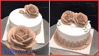 How Make Chocolate Rose Cake - Cách Làm Bánh Kem Hoa Hồng Chocolate - Yummy Cake