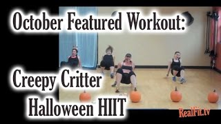 October Featured Workout: Creepy Critter 30-minute Halloween HIIT Workout