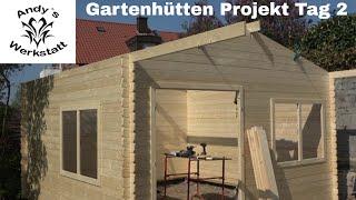 Gartenhütten Projekt Teil #3 - Aufbau, Fenster und Dach - Tag 2