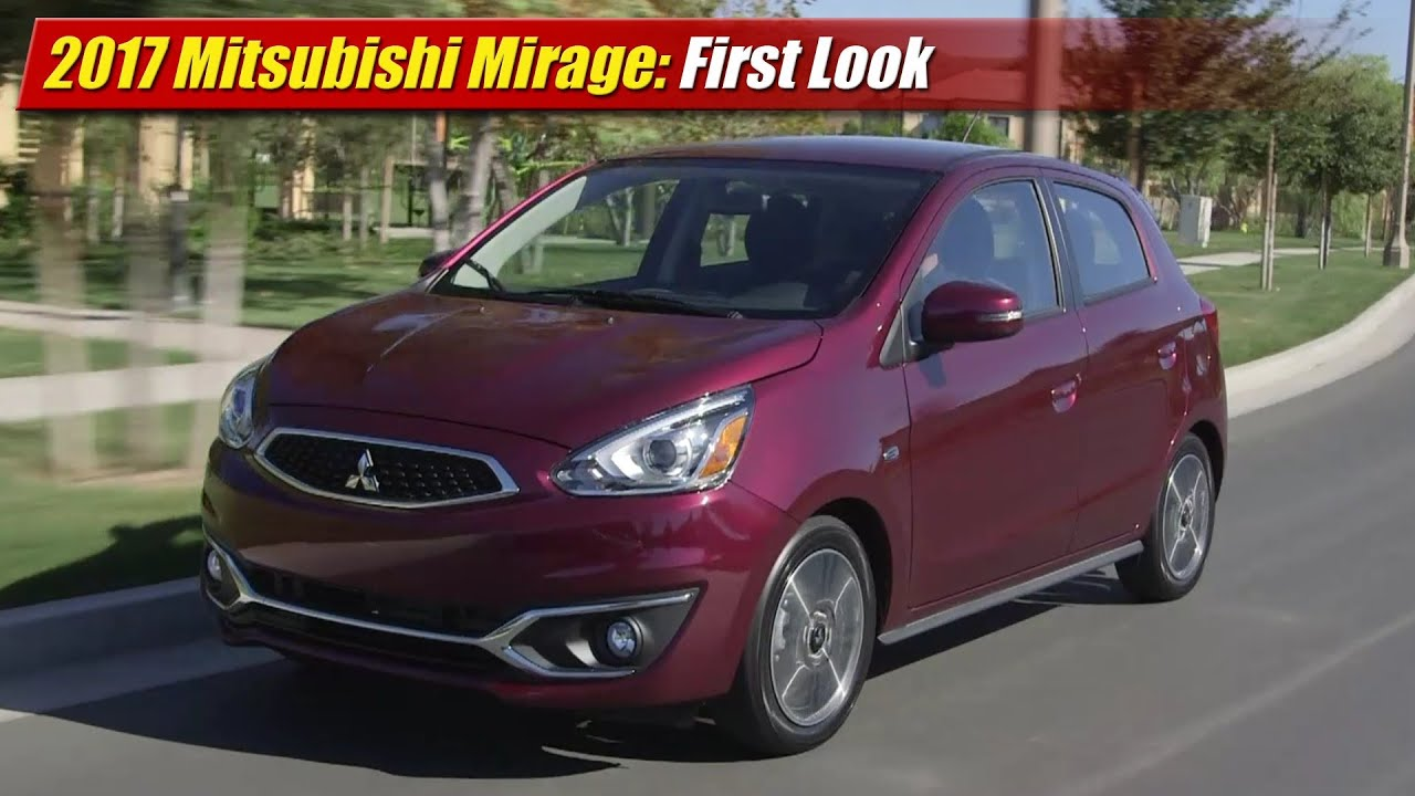 Mitsubishi Mirage 2017 Price >> 2017 Mitsubishi Mirage First Look Youtube